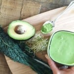 green reboot smoothie {matcha, kale, cucumber, avocado, hemp}