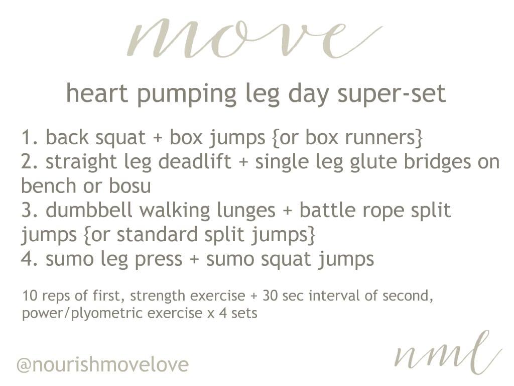 heart pumping leg day superset