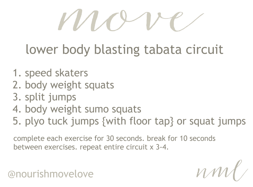 lower body blasting tabata circuit