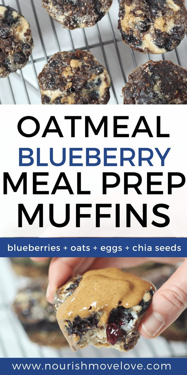 Blueberry Oatmeal Meal Prep Muffins