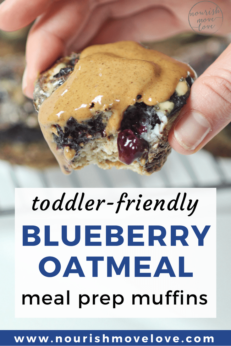 Toddler-Friendly Blueberry Oatmeal Meal Prep Muffins