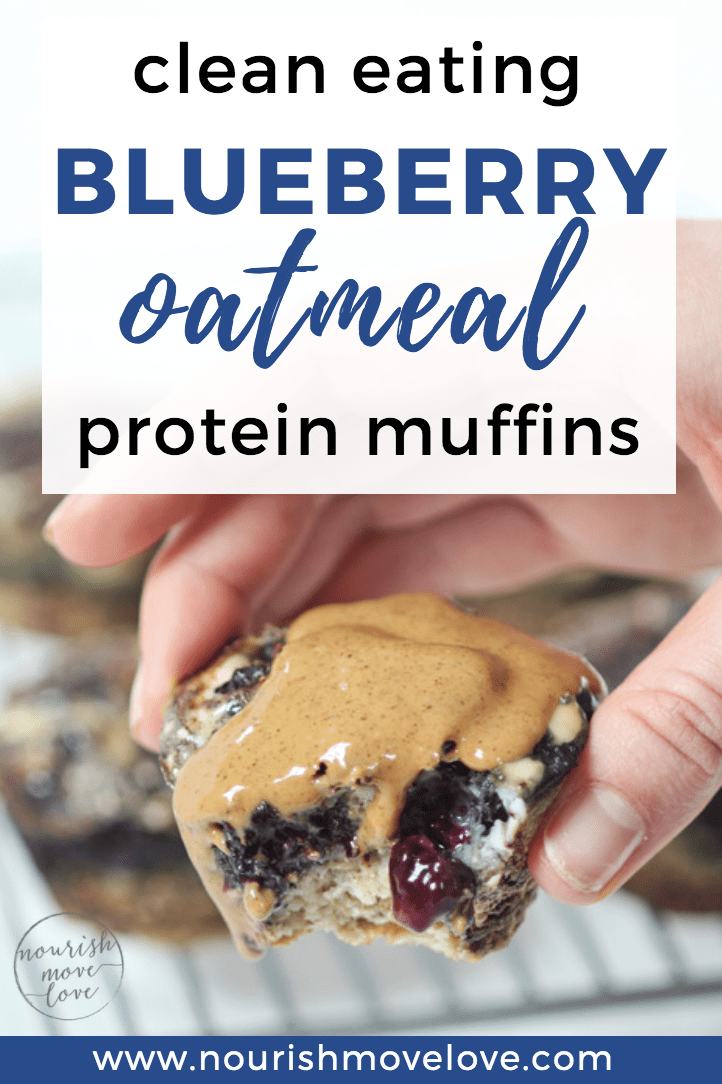 Blueberry Oatmeal Meal Prep Muffins {Only 5-Ingredients}