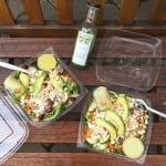 farmer's market salad {with creamy avocado-cilantro dressing}