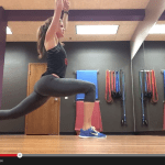 yoga flow and cardio combo {push up to lunge and single leg burpee}