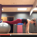 stability ball basics {build core strength with these plank variations on the stability ball}
