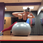 stability ball glute and core combo {glute / rear lifts and back extensions}