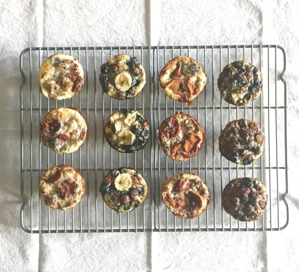 Banana Oat and Blueberry Oat Muffins