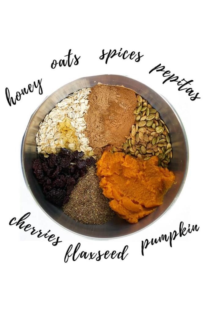 Pumpkin Oat Balls ingredients | no-bake pumpkin energy bites