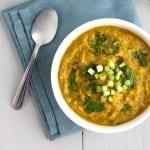 detoxifying, creamy butternut squash soup {butternut squash, kale, ginger, turmeric}