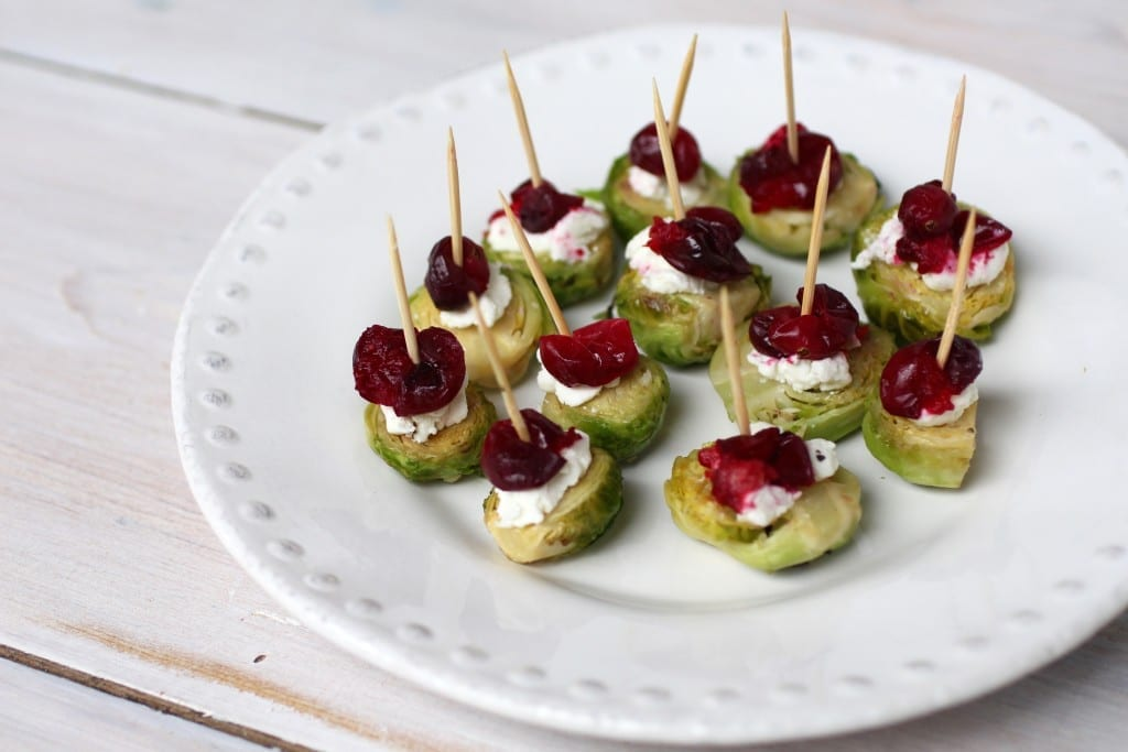 Brussels sprouts 3 ingredient holiday appetizer for Thanksgiving or Christmas