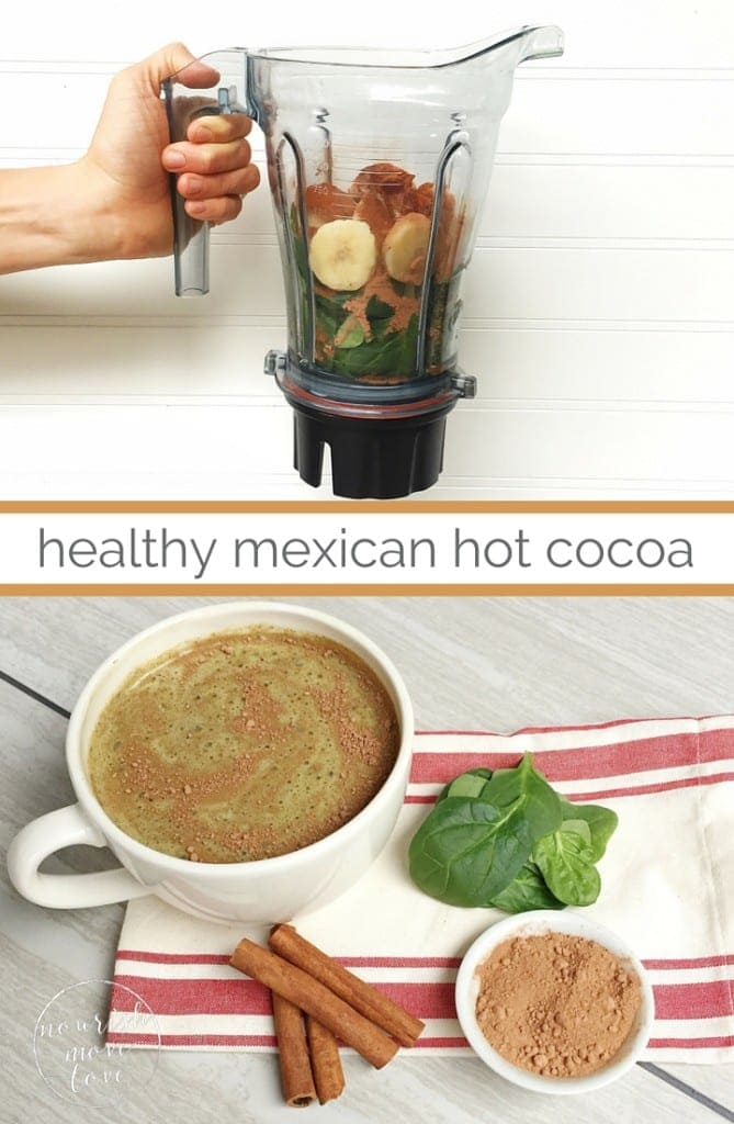 healthy mexican hot chocolate green smoothie - www.nourishmovelove.com