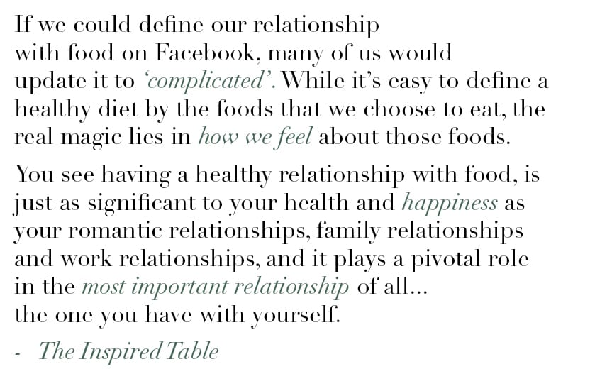 The Inspired Table defining your relationship with food and 3 cleanse-free tips to bounce back from overindulging during the holidays - https://www.nourishmovelove.com/