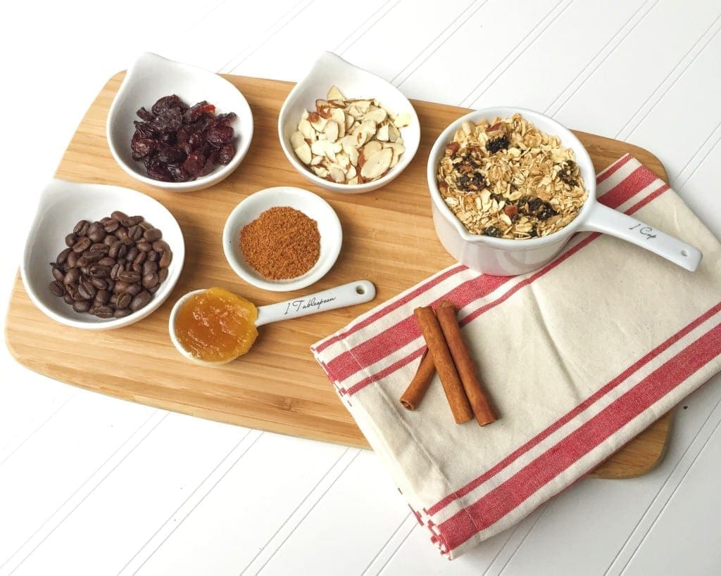 coffee granola ingredients and recipe, the DIY holiday gift everyone will love - www.nourishmovelove.com