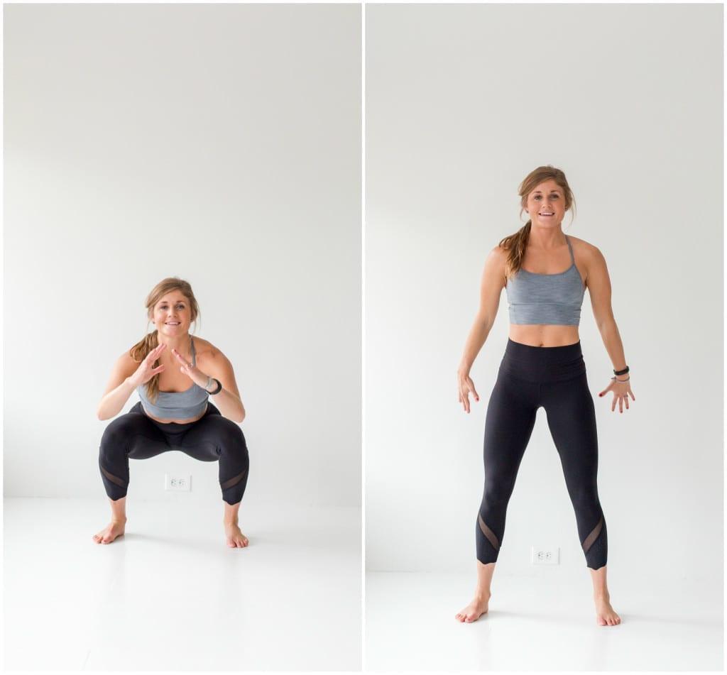 10 Minute AMRAP Bodyweight Workout -- Air Squat -- www.nourishmovelove.com