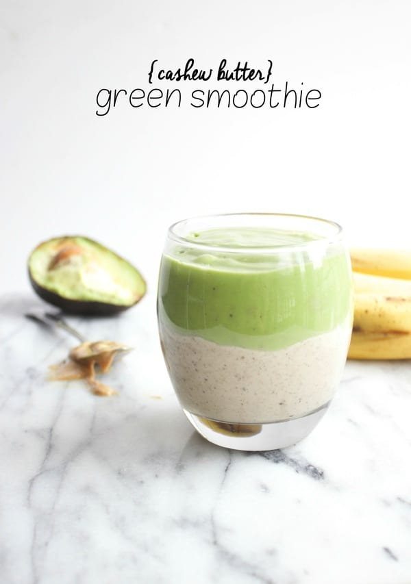 Cashew-Butter-Green Smoothie from www.thealmondeater.com