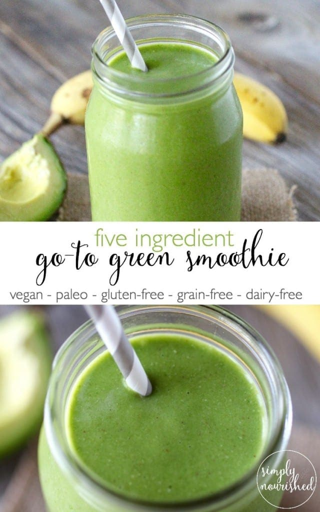 Five-Ingredient-Go-To-Green-Smoothie from www.simplynourishedrecipes.com
