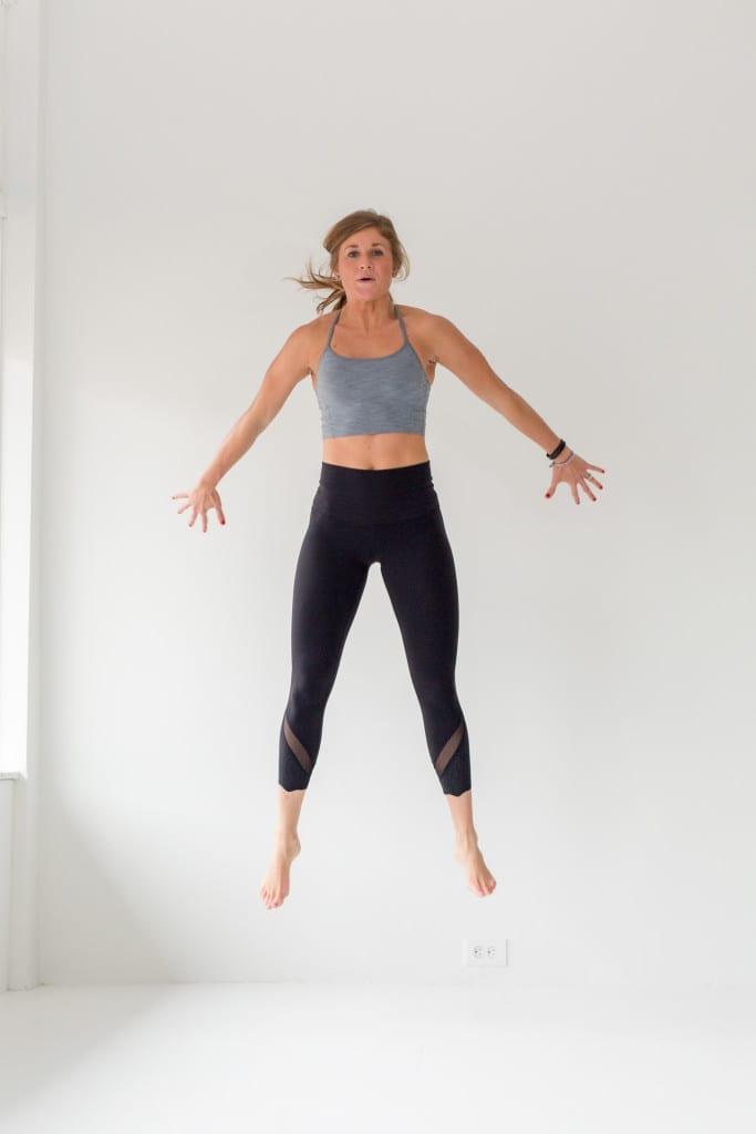 10 Minute AMRAP Bodyweight Workout -- Jump Squat -- www.nourishmovelove.com