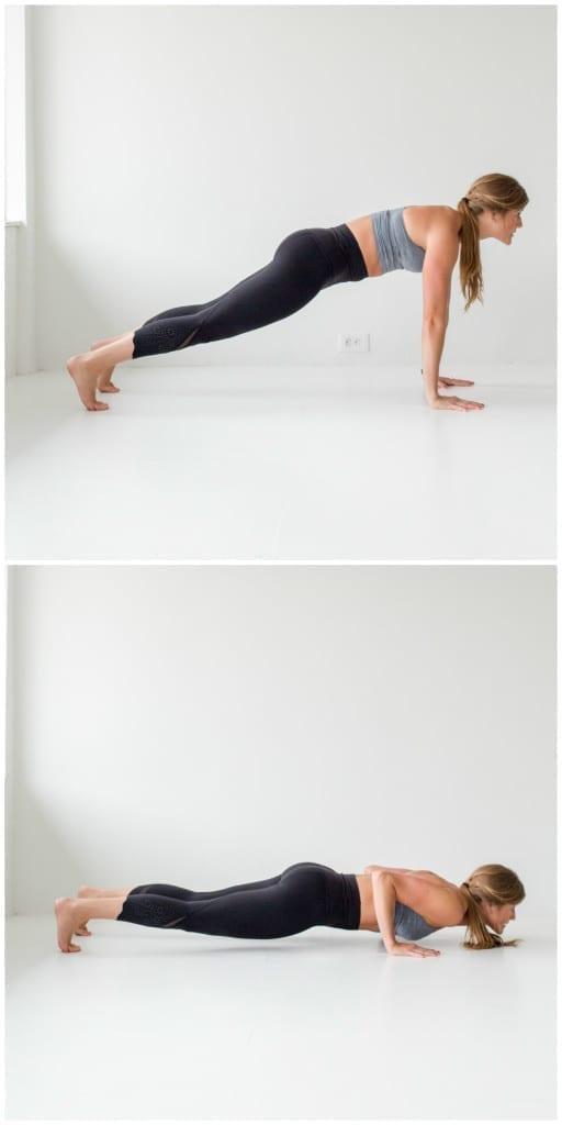 10 Minute AMRAP Bodyweight Workout -- Push Up -- www.nourishmovelove.com
