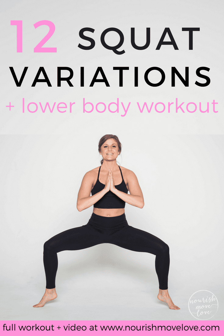 12 Squat Variations + 20-Minute Lower Body AMRAP Workout