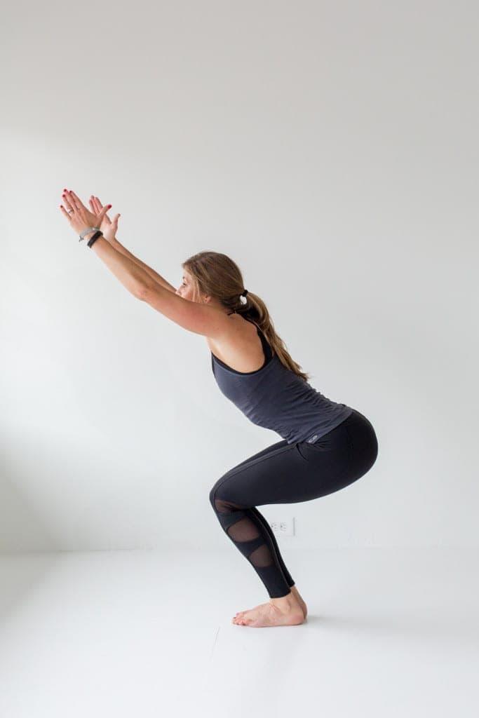 12 Squat Variations + Lower Body AMRAP Workout -- Chair Squat -- www.nourishmovelove.com