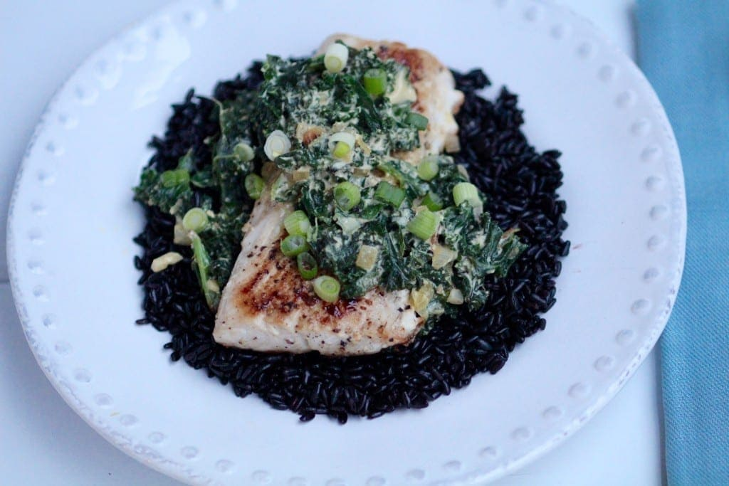 Saffron Mahi Mahi with Forbidden Wild Rice Recipe - Local Crate -- www.nourishmovelove.com