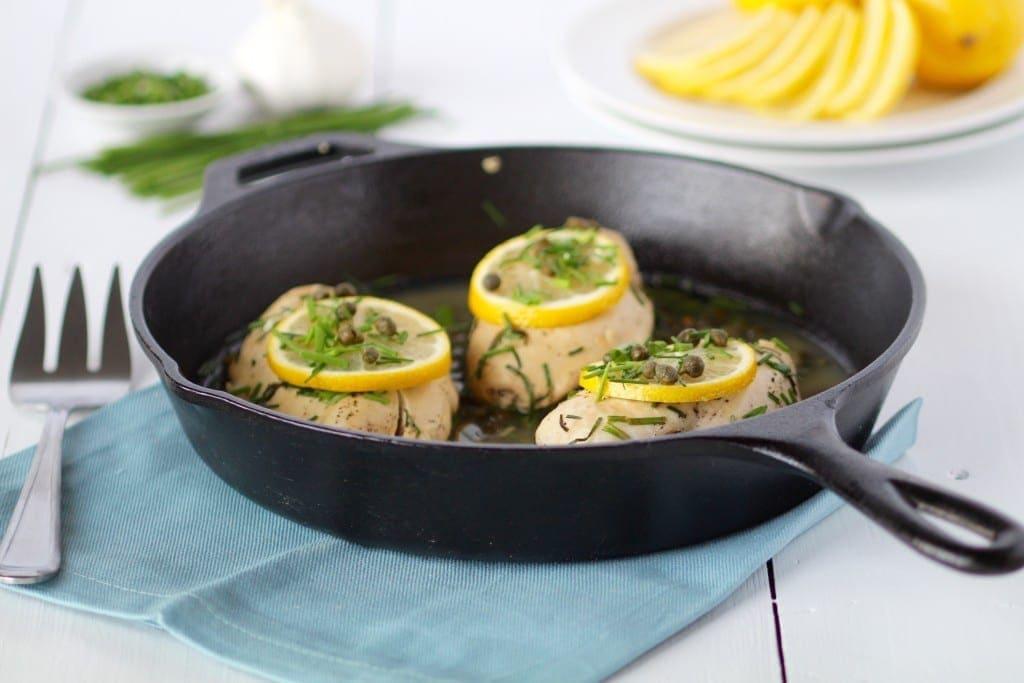 lemon chicken with capers recipe 30 minute meals -- www.nourishmovelove.com