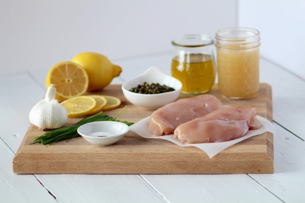 lemon chicken with capers ingredients 30 minute meals -- www.nourishmovelove.com