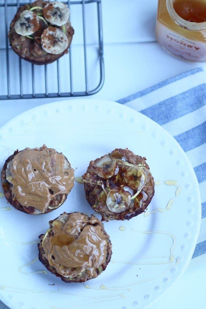 gluten-free, grain-free, dairy-free, refined-sugar free zucchini banana muffin recipe -- www.nourishmovelove.com
