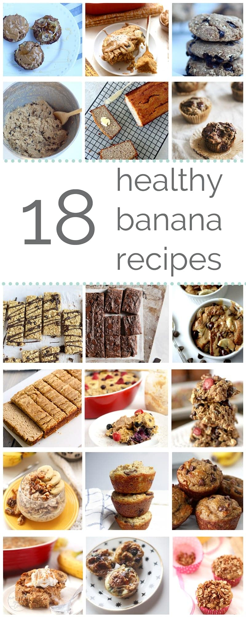 18 healthy banana recipes to satisfy your carb cravings | go bananas with these 18 deliciously healthy ways to use over-ripe bananas. from double chocolate banana bread to peanut butter banana oatmeal bake, these recipes are sure to satisfy all your carb cravings {guilt and gluten-free}! | www.nourishmovelove.com