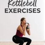 Kettlebell exercises pin for pinterest
