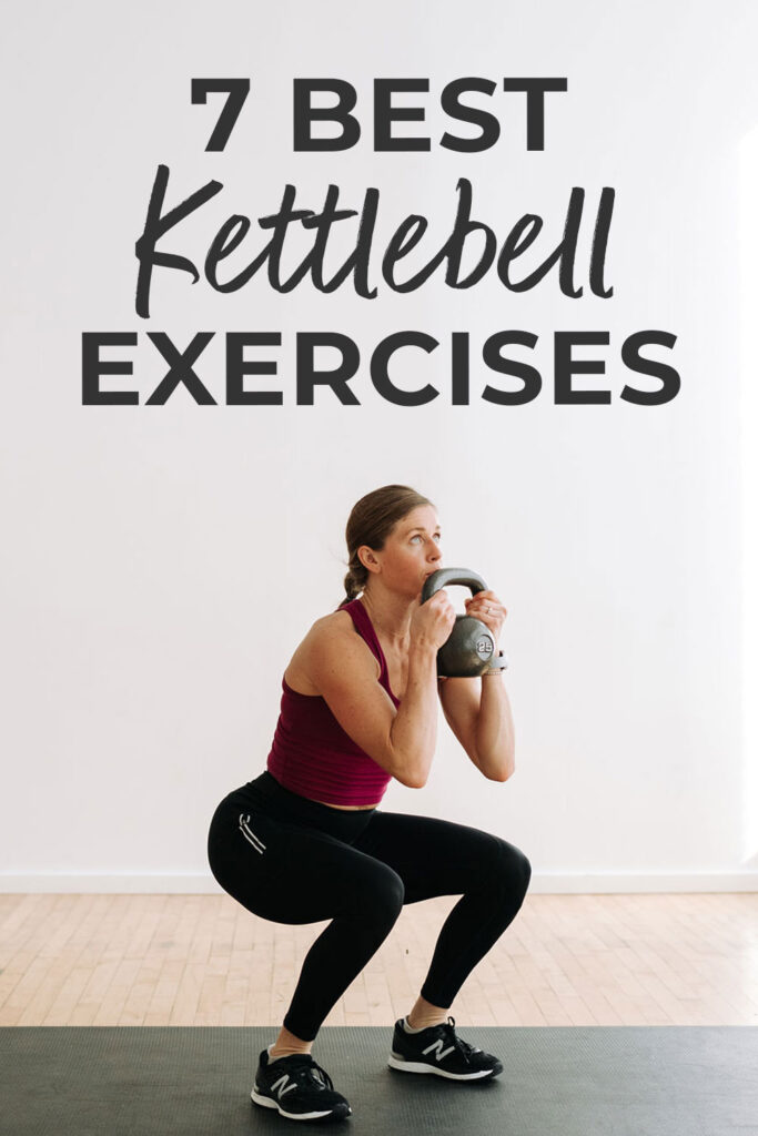 7 BEST Kettlebell exercises to build muscle pin for pinterest