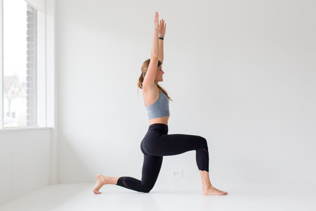 10 morning yoga poses, low crescent lunge --- www.nourishmovelove.com