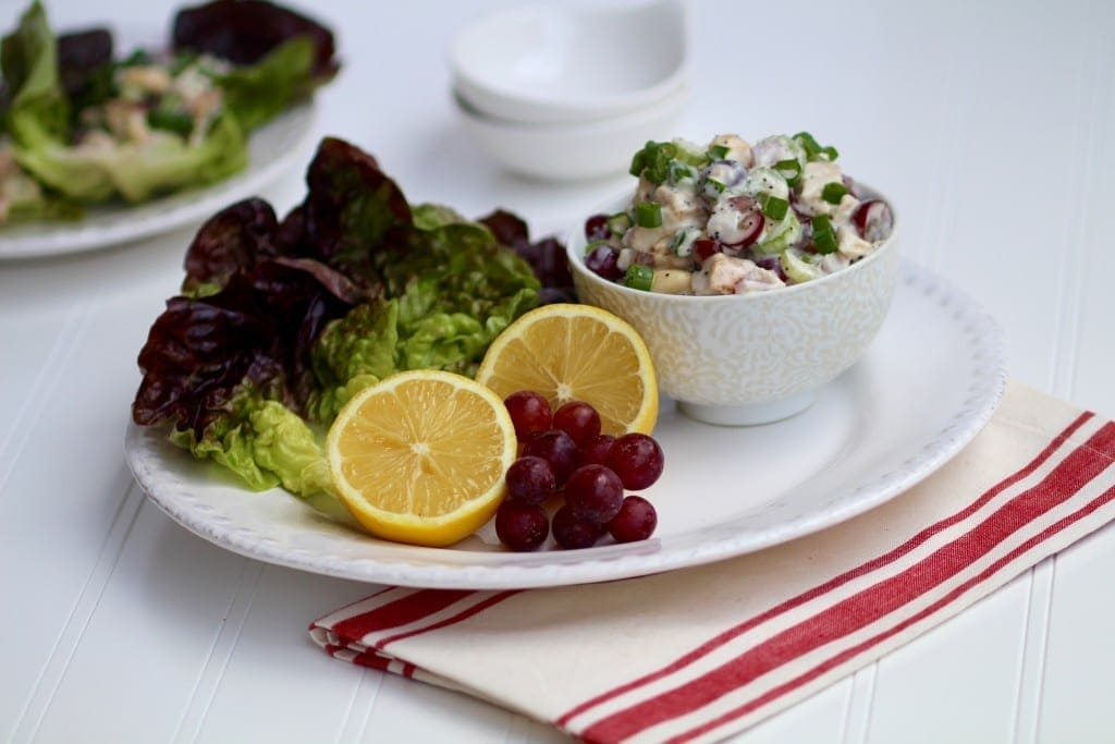 Poppy Seed Chicken Salad Lettuce Wraps Recipe -- www.nourishmovelove.com