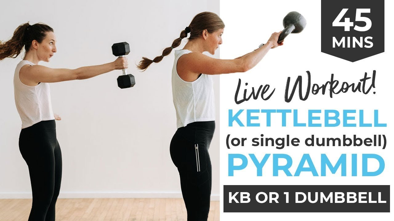 7 BEST Kettlebell Exercises for Women (45-Minute HIIT PYRAMID)
