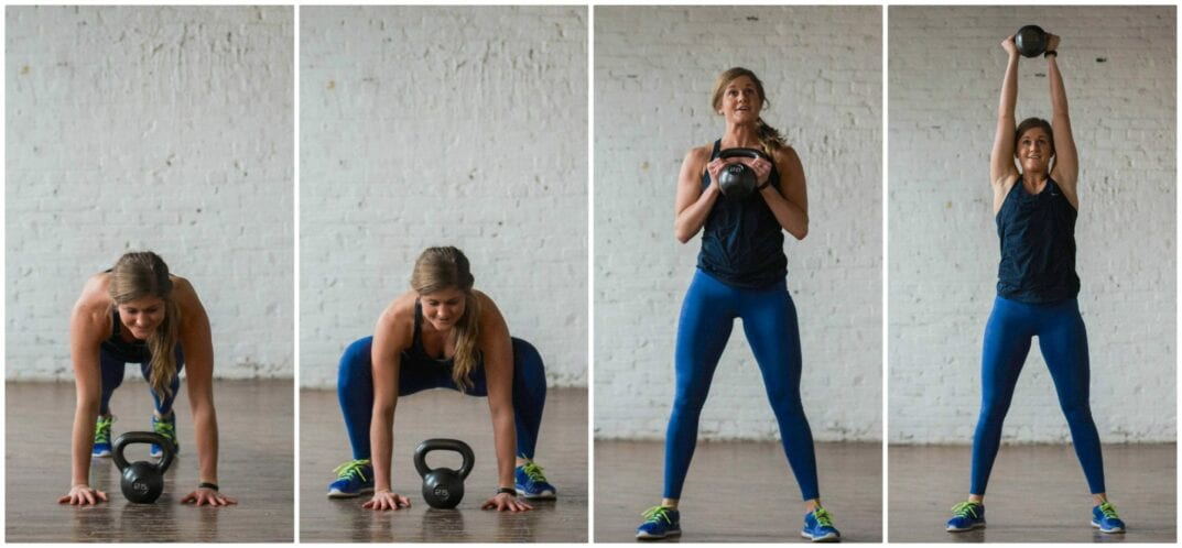 squat thruster exercise | kettlebell workout