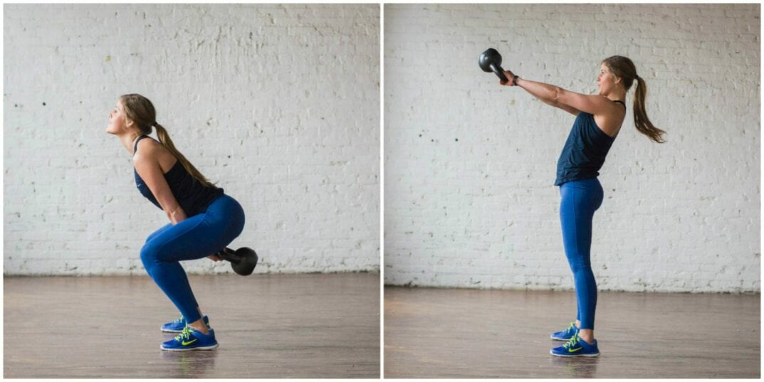 kettlebell swings | kettlebell moves to burn calories