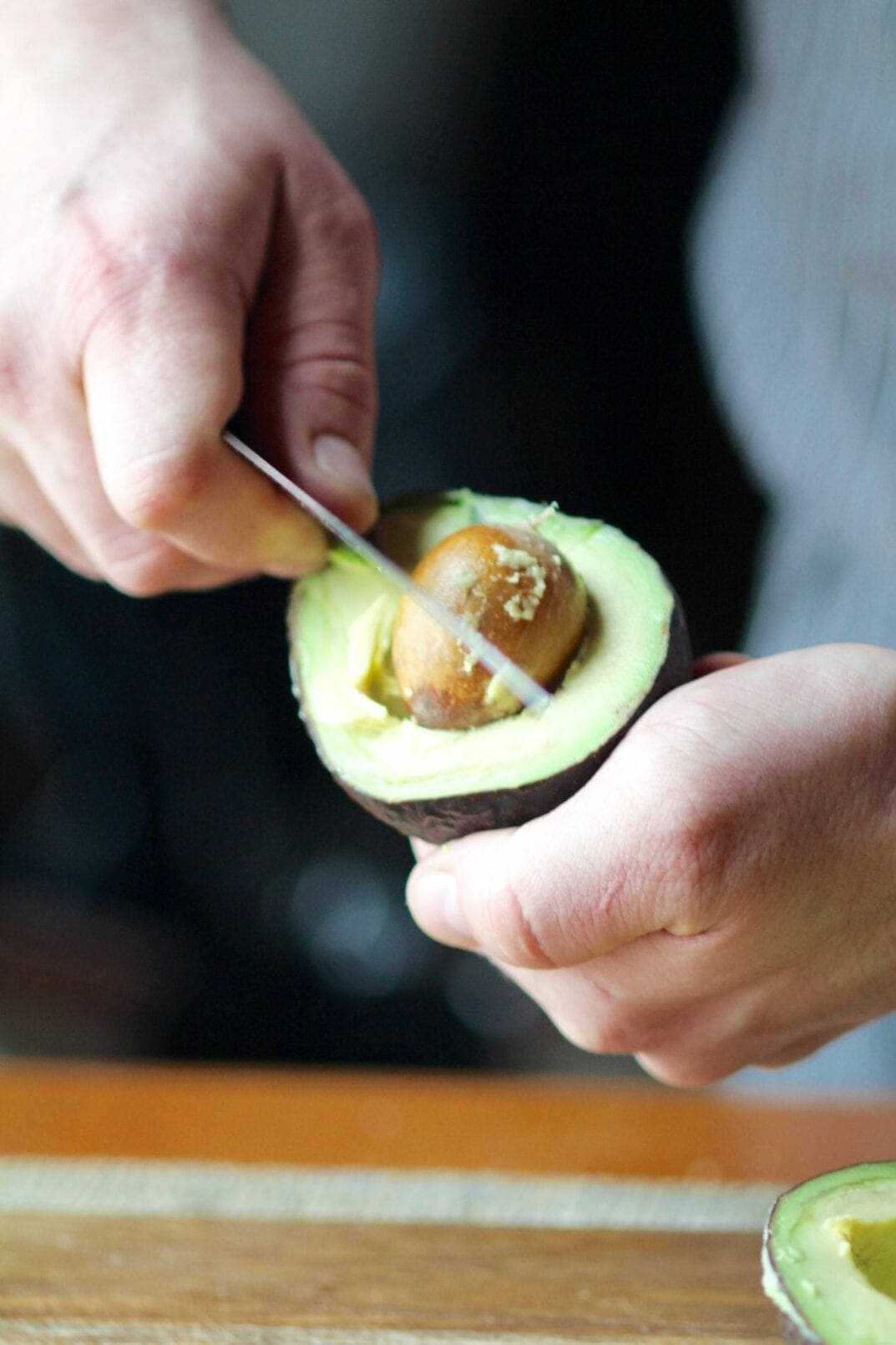 how to de-pit an avocado