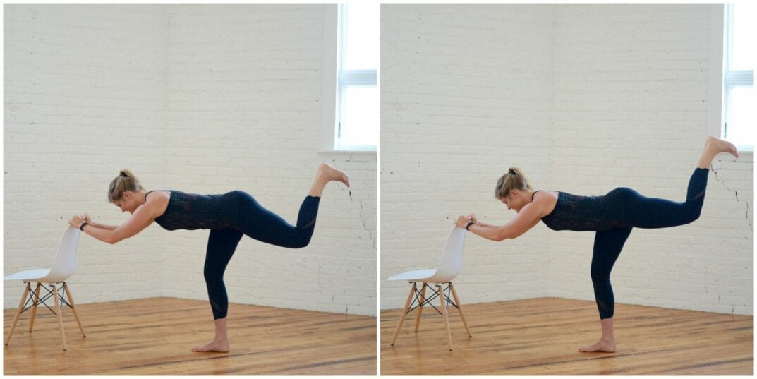 barre flat back arabasque glute stamp
