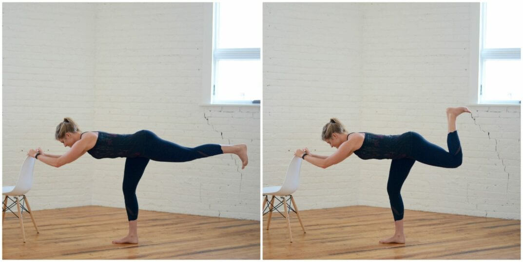 barre flat back arabasque hamstring curl