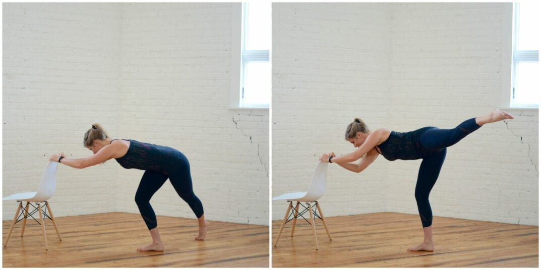barre flat back straight leg curtsy
