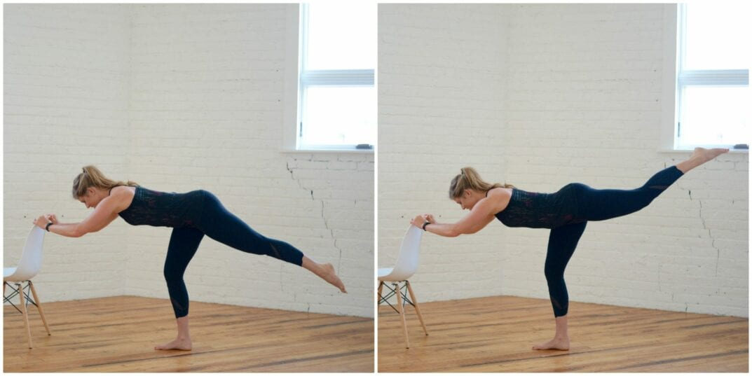 barre flat back arabasque straight leg lift