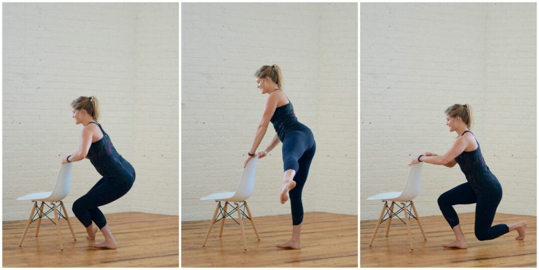 barre front + back leg sweep