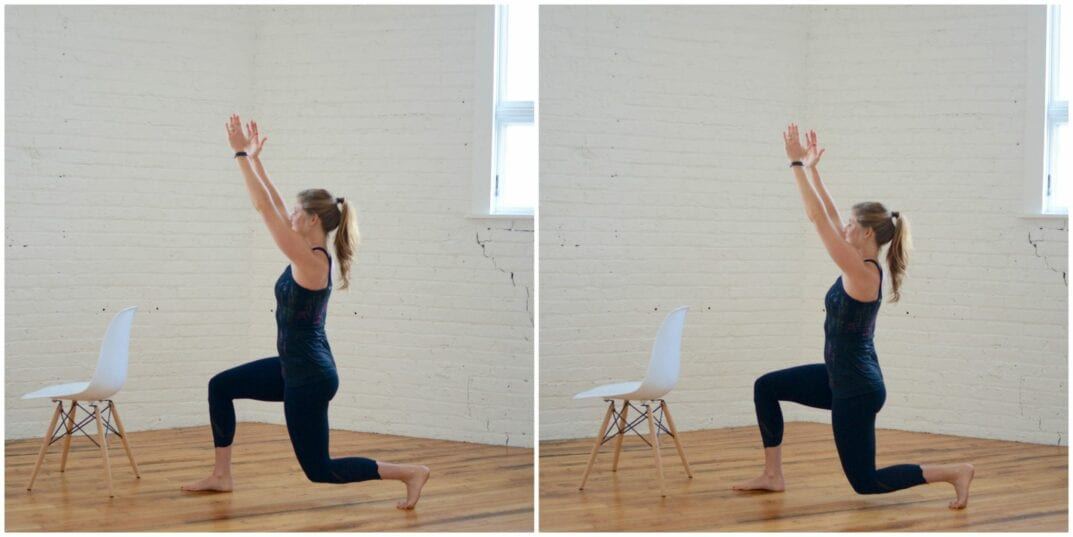 barre lunge pulses