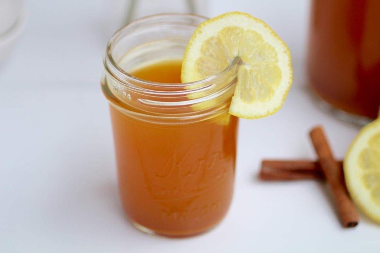 daily detox lemon, ginger & turmeric tea