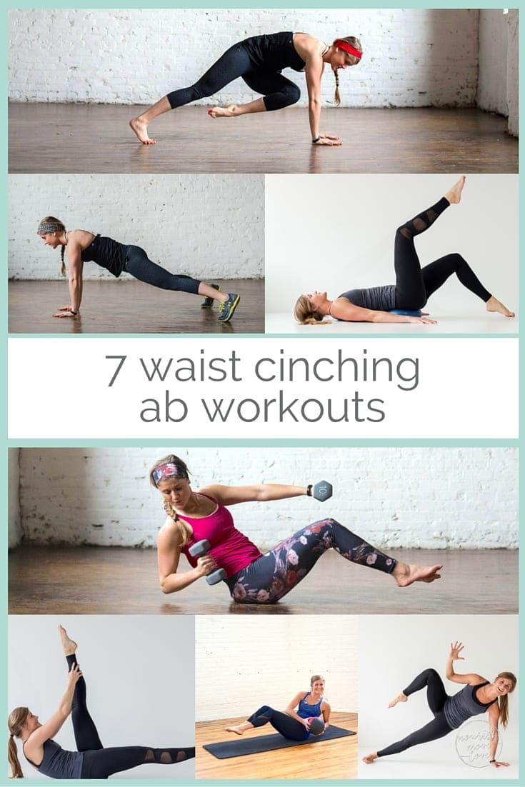 7 waist cinching ab workouts | www.nourishmovelove.com