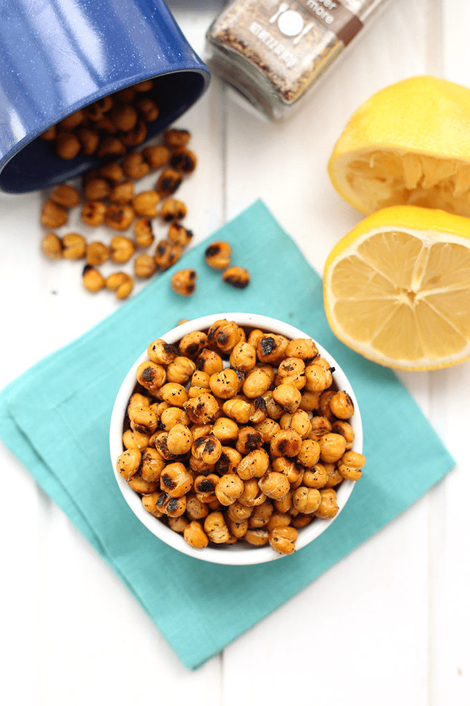 Lemon Pepper Roasted Chickpeas
