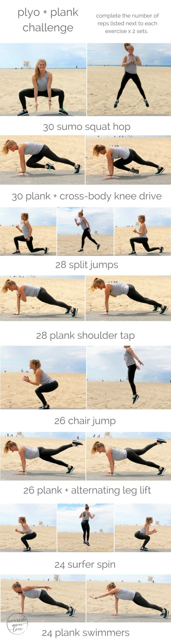 plank + plyo bodyweight workout | the most challenging planks + plyos workout; burn calories, build explosive strength, and seriously tone your torso using just your bodyweight. | www.nourishmovelove.com