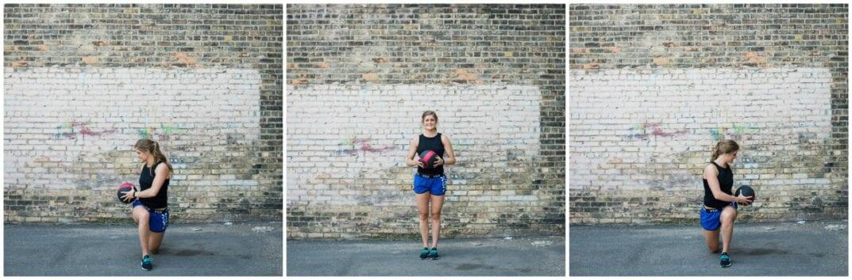alternating lunge and twist