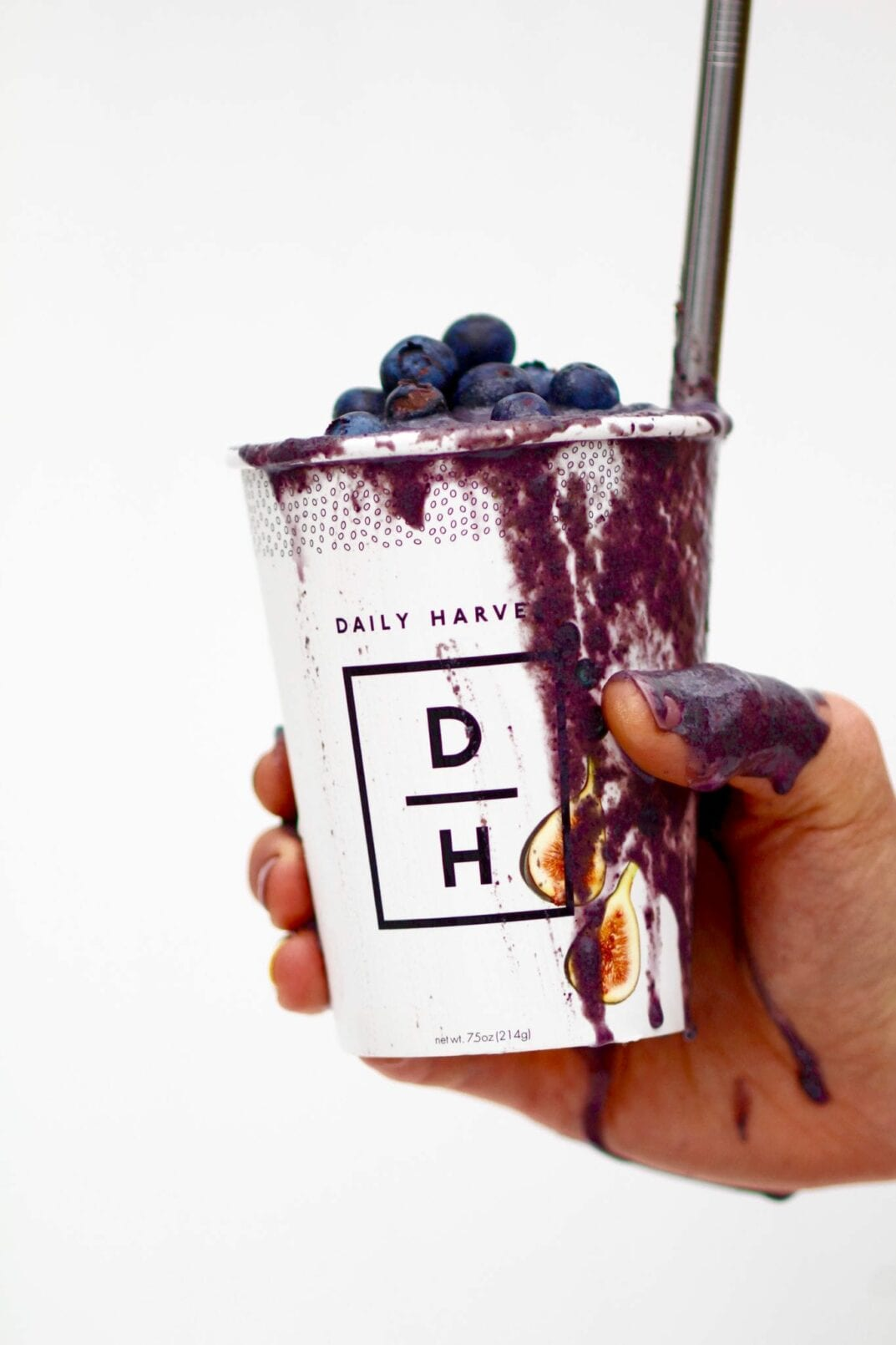 daily harvest blueberry + hemp smoothie