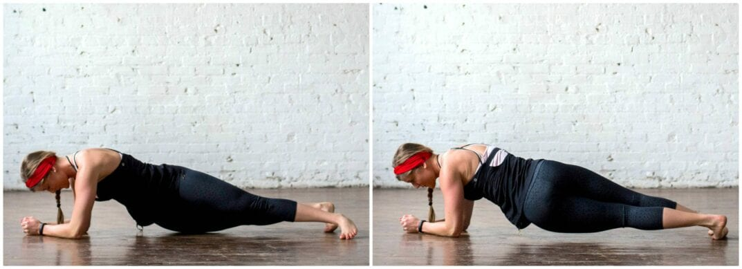 low plank hip swivel